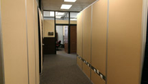 custom office panels with electrical conduits